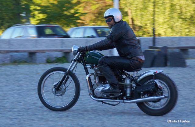 Vintage Triumph Bobber Foto: Annika Löfström