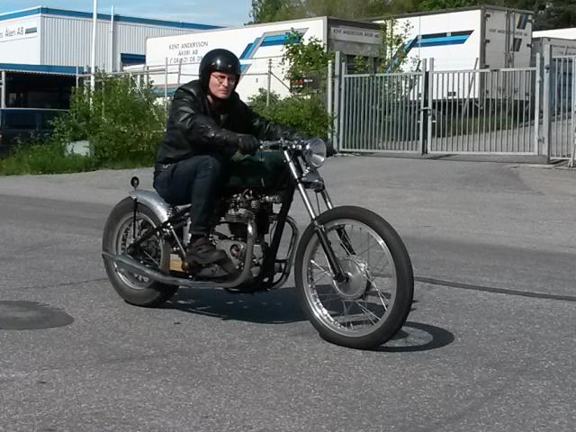 Vintage Bobber Triumph